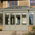 Exterior of an orangery with some traditional styling & retaining a contemporary feel - by North Country's partner Totali
