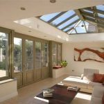 Interior of an orangery with some traditional styling & retaining a contemporary feel - by North Country's partner Totali