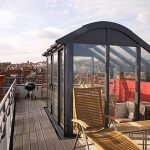 A beautiful curved rooftop conservatory overlooking London - by North Country's partner Apropos