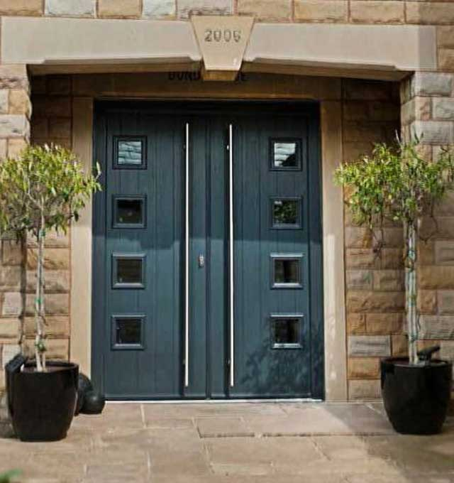 Contemporary style composite French doors Harrogate North Yorkshire