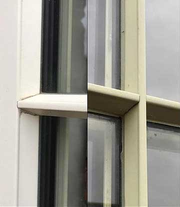 stick on window bar joints