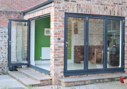 Aluminium bifolding doors-Harrogate North Yorkshire